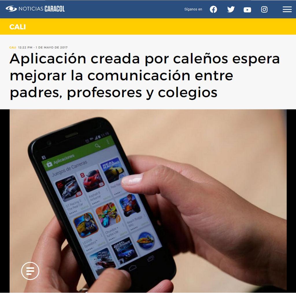 Noticias Caracol destaca a Connecto, la App que mejoró la comunicación en las instituciones educativas
